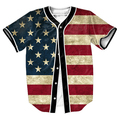 Old Glory Jersey with buttons 3d overshirt  shirt Men's shirt  shirt Streetwear tops shirt overshirt