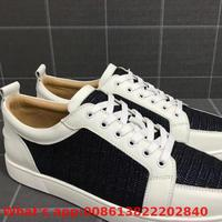Low Cut Sneakers Leisure Lace Up Black White Cow Leather Spikes Sports Red Bottoms For Men Shoes Casual Flat Loafers