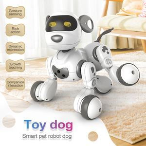 Juguete de Perro Robot inteligente con Control remoto de 2,4 Ghz, Robot interactivo para niños, juguetes electrónicos para mascotas