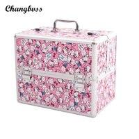 Super Lovely Pink Cute Cat Women Cosmetic Bag Travel Potable Makeup Organizer Case Professional Make UP