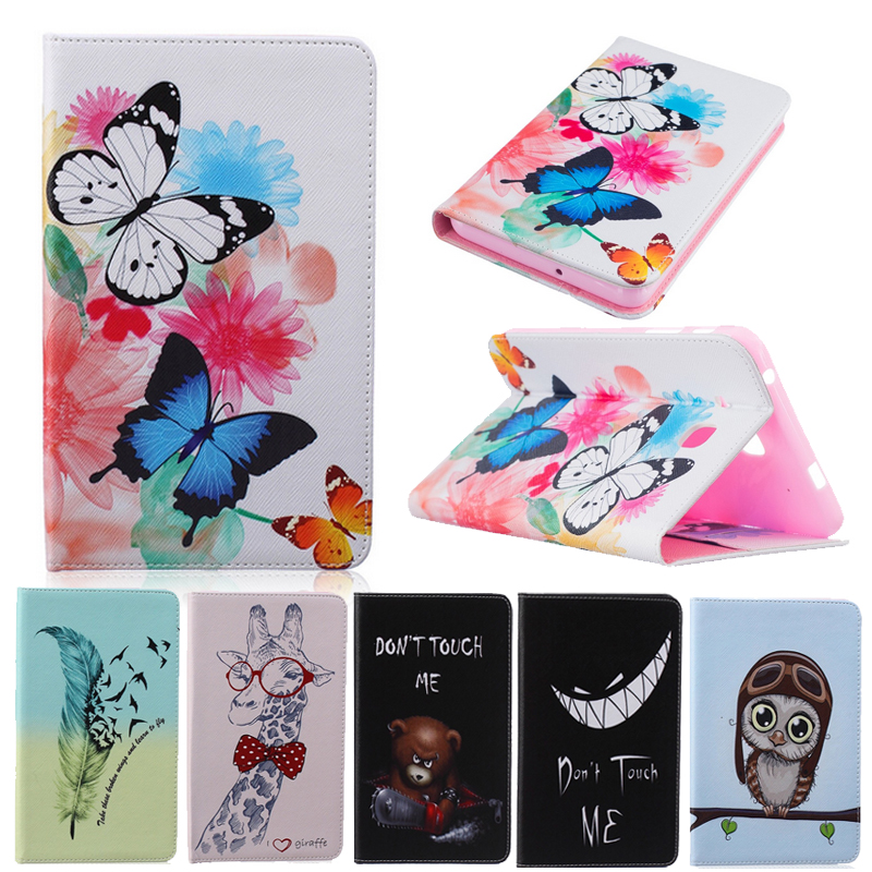 New Cartoon for Samsung Galaxy Tab A6 7.0 T280 T285 Case Patined Bear Feather Stand Funda Case for Samsung Tab A6 7 T280 Cover new listing luxury tablet shockproof case cover for samsung galaxy tab a a6 7 0 t280 t285 child fashion back cases stylus