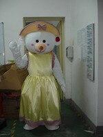 Free Shipping Bubble Head Mascot Costume Teddy Bear Female Fan And Helmet Mascot Costume Personality Halloween
