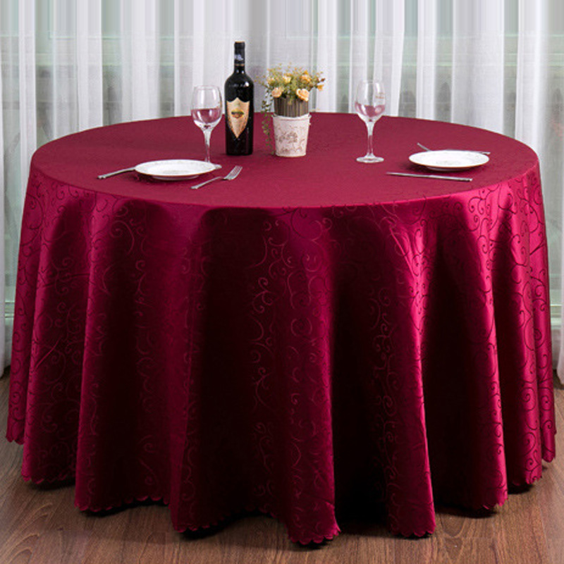 10pc/lot Customize Europe Table Cloth For Round Table Red