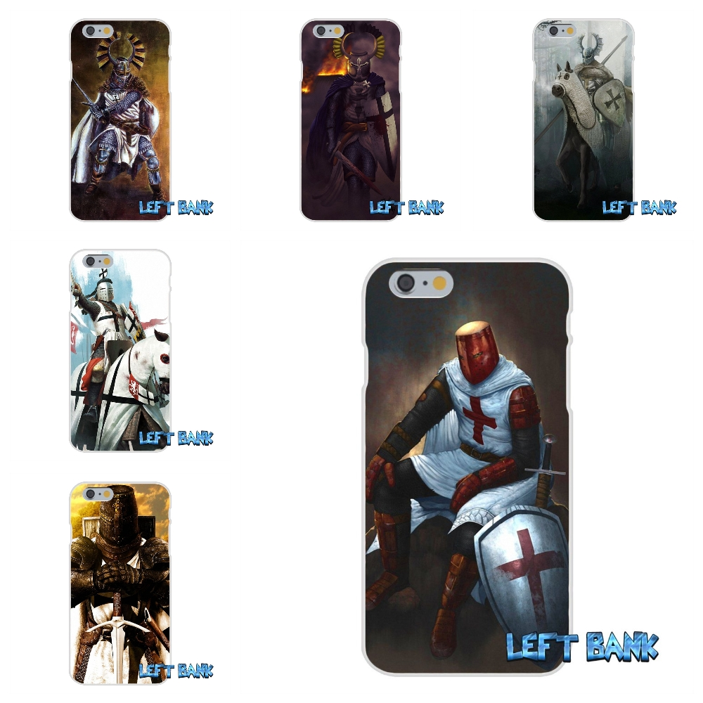 For iPhone 4 4S 5 5S 5C SE 6 6S 7 Plus Teutonic Knight 14 century Art Soft Silicone TPU Transparent Cover Case