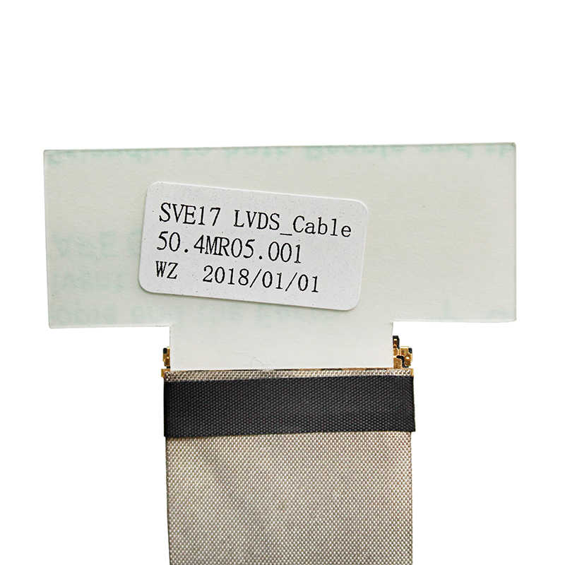 Tela de vídeo flex para sony sve17 sve171 sve171a sve171b1 z70 portátil lcd led lvds display cabo de fita 50.4mr05. 011 50.4mr05. 001