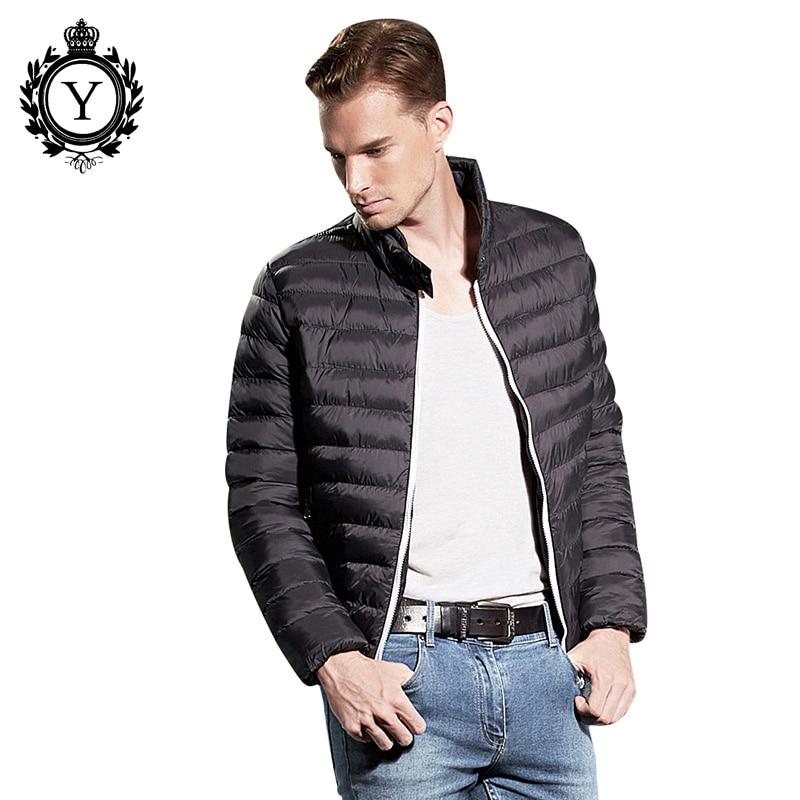 COUTUDI Solid Black Winter Jacket Men Thin Down Parka Jacket Male Down Coats Windbreaker Quality Clothing Men Jacket Parkas Coat