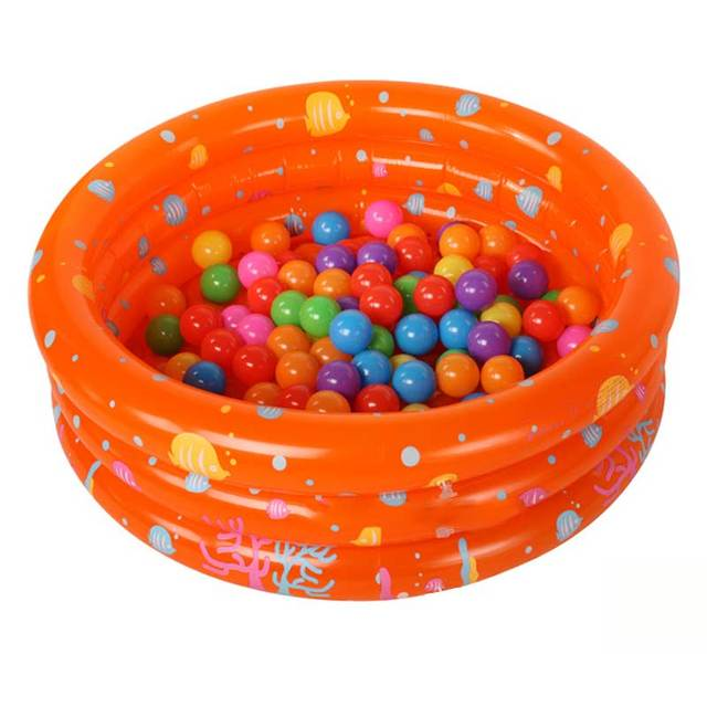 Children thickening Inflatable round swimming pool/The individual layered sand/Game pool Three air bags Soft bottom Random Color