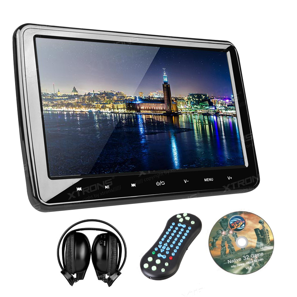 10 1 auto portable monitor car headrest dvd player hdmi. Black Bedroom Furniture Sets. Home Design Ideas
