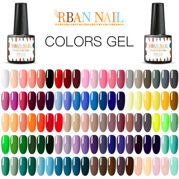 RBAN NAIL Gel Nail Polish Gel Varnish Paint Semi Permanent Nails Art Gel Nail Polish For Manicure Gellak Top Coat Hybrid Primer