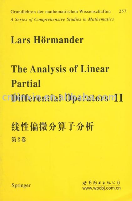 hormander the analysis of linear partial differential operators