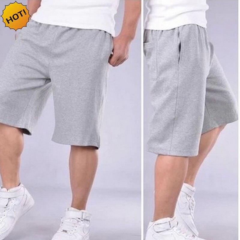 HOT 2019 Summer Sport Jogging Running Training   shorts   Fertilizer Plus-Size 6XL 7XL Elastic Waist Men Loose   short   trousers men