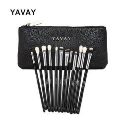 YAVAY 12 قطعة الفاخرة المهنية كاملة العين فرشاة للمكياج مجموعة عينيه كحل مزج قلم رصاص يشكلون فرش صور حقيقية