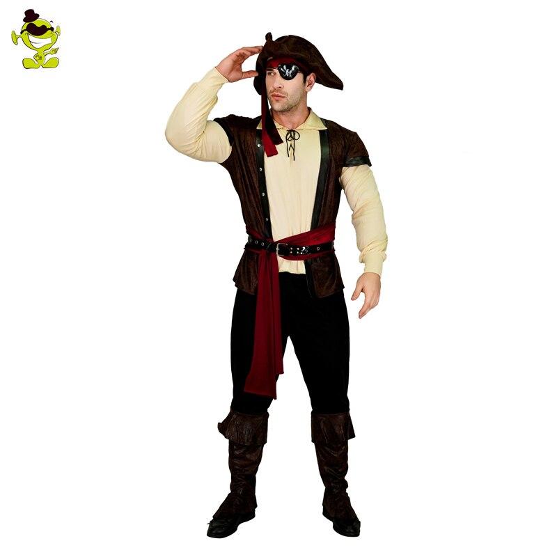 Nuovi Uomini di Arrivo Pirate Costume Halloween Party Cosplay Caraibi Per La Festa di Carnevale Corsair & vichingo Masquerade Vestiti del Pirata