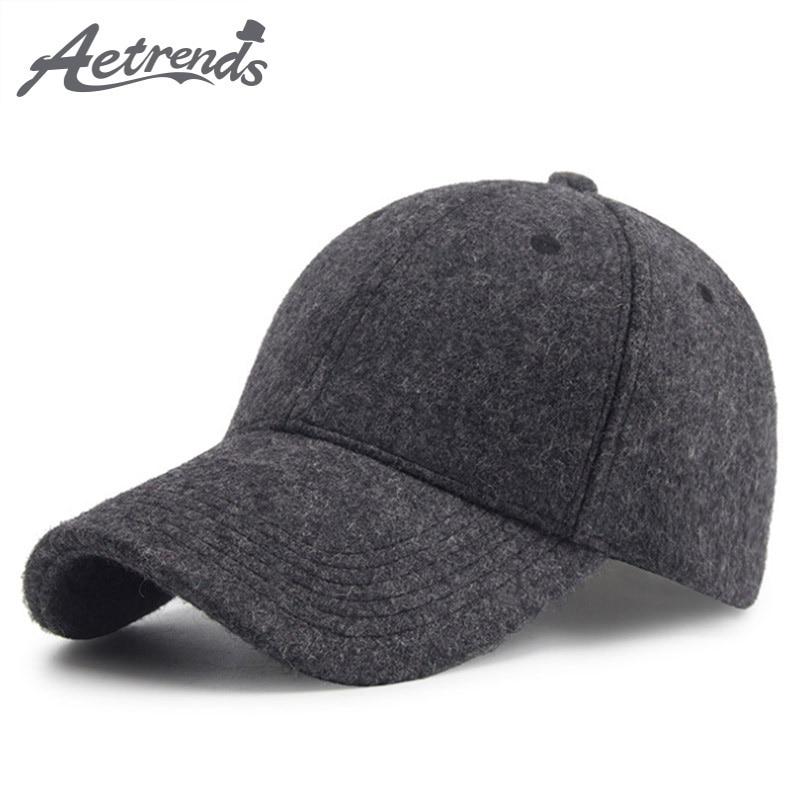 [AETRENDS] Winter Wool Felt Cap Men Baseball Cap Vintage Russia Hats for Men Thick Dad Hat Baseball Sport Brand Man Caps Z-6585