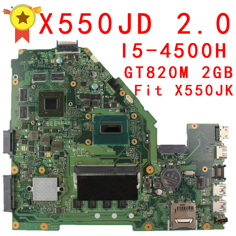 For Asus FX50J X550J X550JK X550JD motherboard REV2.0 Mainboard With i5-4500H GT820 4G 100% Tested