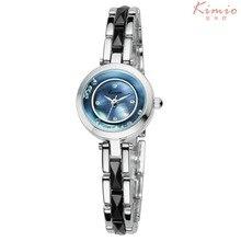 Kimio Marca Relojes de Lujo Vestido de Diamantes de Imitación de Cerámica Reloj de Las Mujeres Damas Impermeable Reloj de Cuarzo relogio feminino