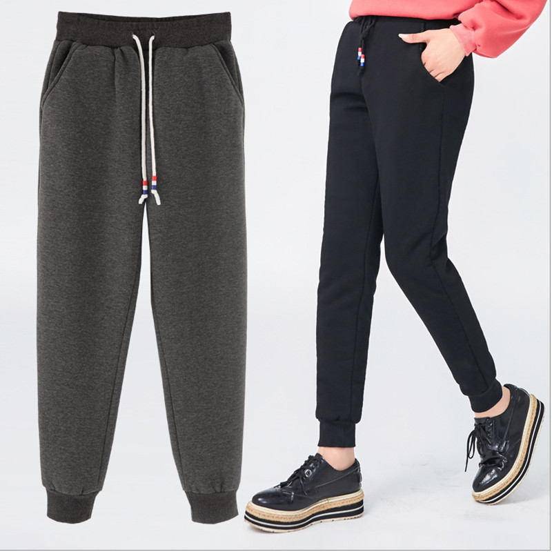Mujer Más Alta Cintura Negro Befree 2018 Pantalones Streetwear Mujeres Tamaño Invierno gris Haren B0qrUB