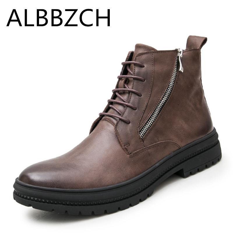 Autumn winter new mens genuine leather boots classic retro England fashion trend ankle boots shoes men high quality work bootsAutumn winter new mens genuine leather boots classic retro England fashion trend ankle boots shoes men high quality work boots