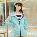 Newest Women Spring Basic Reversible Jacket Long Sleeve Feminina Casual outerwear with hat Cute Print