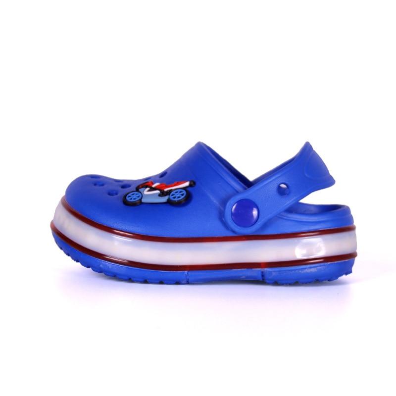 2021 New Kids Sandals Summer Shoes for Girls LED Beach Sandals EVA Shoes for Boys Sandals Children Shoes Flat Sandals 5