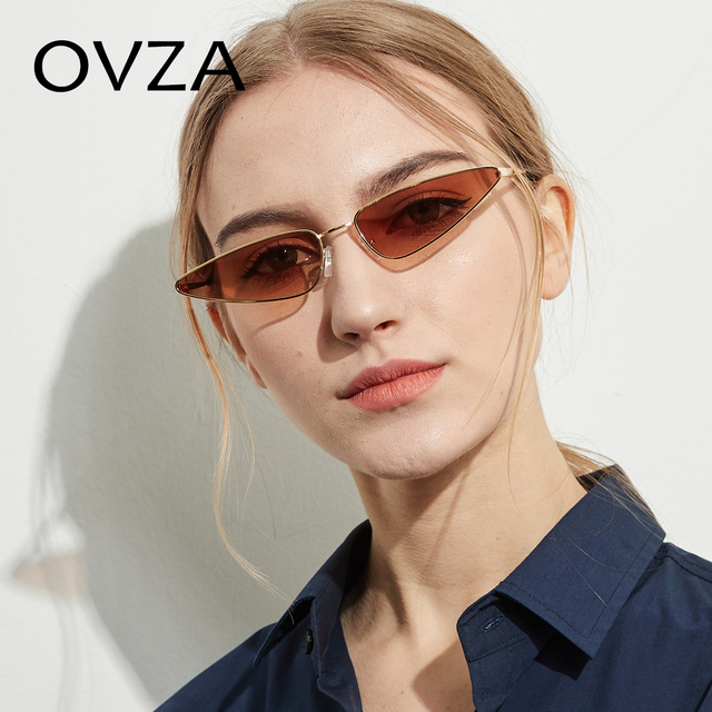 406db3750a9 OVZA Fashion Sunglasses Brand Woman Cat eye Narrow Glasses Ultralight Trend  Sunglasses Ladies Retro Oculos De