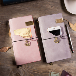 IPBEN Chrismas Gift 2020 New Genuine Leather Traveler's Notebook Japanese Korean Style Journal for Students 100% Handmade Diary