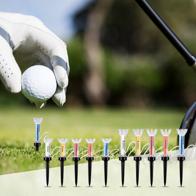 79mm/90mm 5Pcs Golf Training Ball Tee Magnetic Step Down Golf Ball Holder Tees Outdoor Golf Tees Accessories Golf Tees
