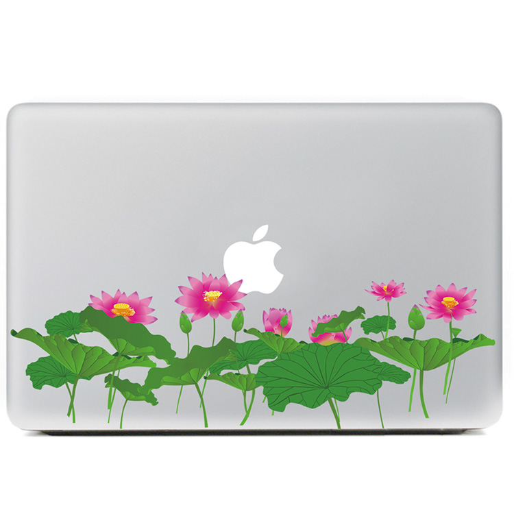Beautiful lotus pond Vinyl Decal Sticker for DIY Macbook Pro / Air 11 13 15 Inch Laptop Case Cover Sticker