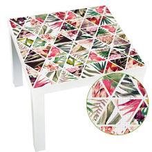 Calcomanías de pared autoadhesivas extraíbles impermeables de PVC para mesa, escritorio, Tops, calcomanías de tela para pared, pegatinas, adornos de decoración, 55X55Cm