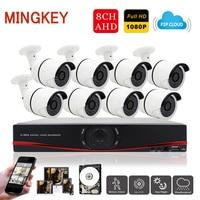 8CH 1080P Wifi Security Camera System 2 0MP DVR Kit AHD Outdoor IR Bullet CCTV Camera