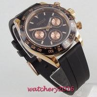 Parnis 39 мм механические часы сапфир кристалл человек часы 2018 Diver кварцевые часы relogio masculino ролевые Роскошные мужские часы