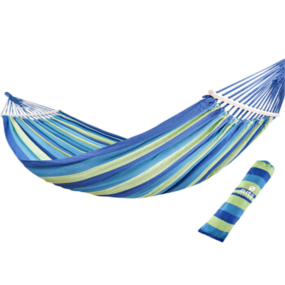 2 Person 200mm*150mm Leisure Hanging Bed Rollover-proof Outdoor Camping Canvas Hammock
