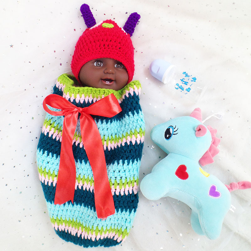 African American black baby boy doll full vinyl silicone reborn baby dolls for girls gift bebes reborn menino boneca 50cmAfrican American black baby boy doll full vinyl silicone reborn baby dolls for girls gift bebes reborn menino boneca 50cm