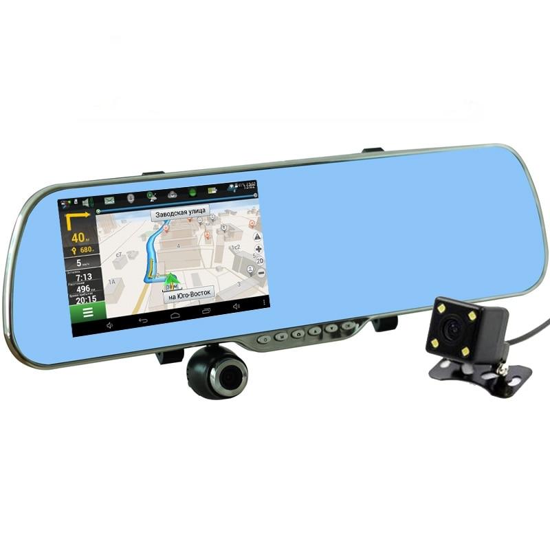 Fonwoon Car DVR Rearview-Mirror Car-Camera Gps Navigation Auto-Video-Recorder Parking