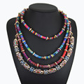 maxi necklace 2016 multi layered chain collier ethnic cord statement tribal necklace boho collares bijoux big chunky necklaces