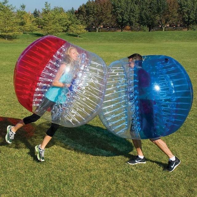 Inflable Bola de Parachoques 0.8 MM PVC 1.5 M Diámetro Aldaba Humanos Zorb Pelota de Fútbol Pelota de Fútbol Burbuja