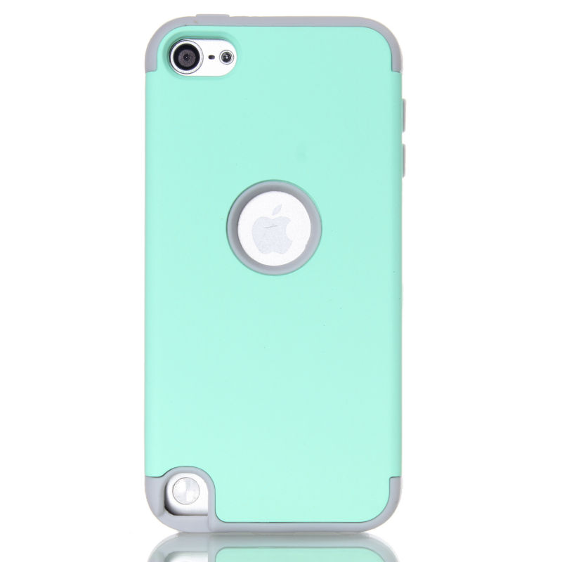 Touch 6 Case Impact Hard & Soft Silicone Hybrid Shockproof Case Cover For iPod Touch 5 6th Generation image