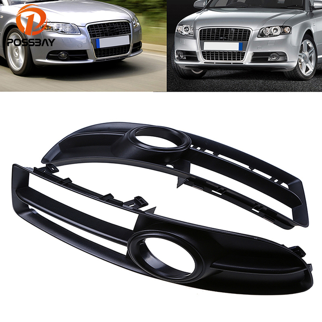 Us 21 74 35 Off Possbay Car Sport Side Grilles For Audi A4 B7 Sedan Avant Cabrio 2005 2009 Car Exterior Accessories Front Lower Grill Grille In