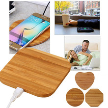 Wood Wireless Charger Bamboo Qi Wireless Charging Pad for iPhone 8/8 Plus/X Samsung Galaxy Note 8/S8/S8 Plus Qi-Enabled Devices