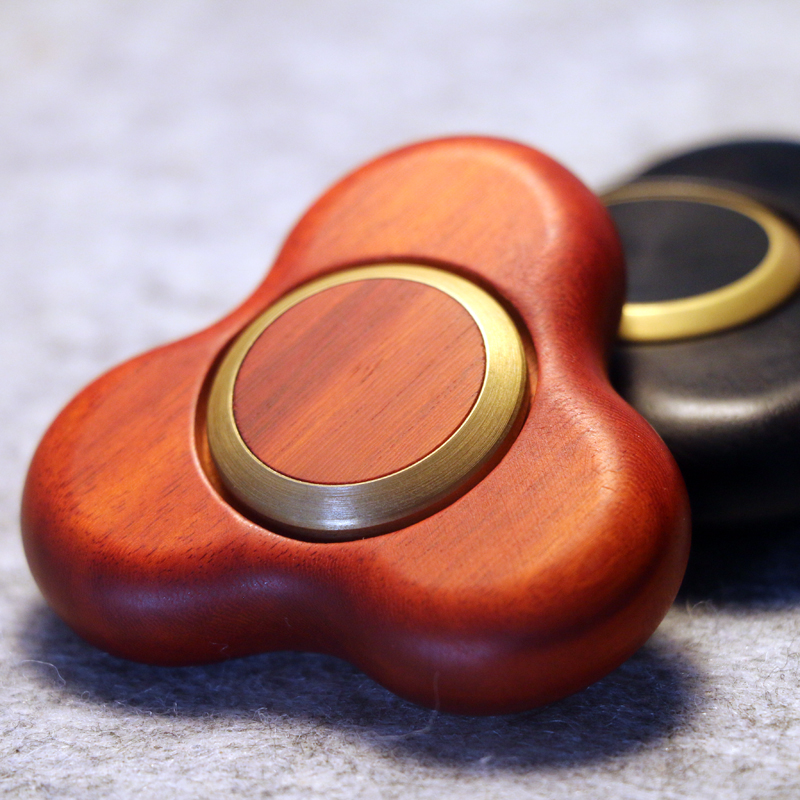 New High End Red Black Sandalwood Wooden Fidget Toy Edc Hand Finger Spinner Tabletop Stress Reliever Toys In From Hobbies On