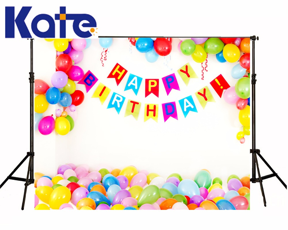 Birthday Background Balloon Photo Booth Backdrop Fotografia for Children Newborn Kids' Party Photography Fond Studio Kate 5X7ft