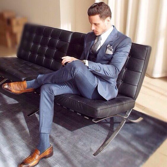 Latest Coat Pant Designs Navy Blue Tuxedo Slim Fit Skinny 3 Piece Men Suit Custom Groom Suits Style Business Blazer Vestidos