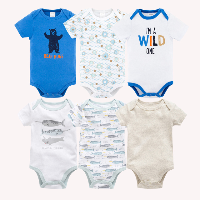 2019 6 PCS 3 PCS Summer Baby Clothes roupa de bebes Short Sleeve Newborn Baby Rompers Cotton Baby Girls Boys Clothing