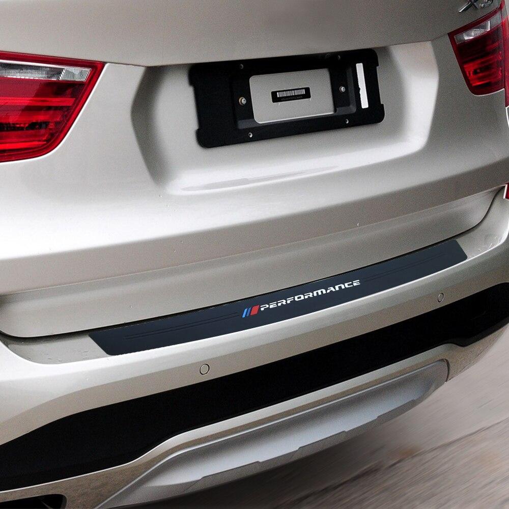 Nouvelle Performance En Caoutchouc De Voiture Pare-chocs Arrière Garniture Garde Plaque Protecteur Autocollant Pour BMW X3 g01 f25 e83 X4 f26 X5 e70 e53 f15 X6 f16 X7