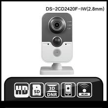 HIK DS-2CD2420F-IW (2.8mm) Inglés Versión visión Soporte POE de Red IP Cámara de 2MP WIFI Cámara Cámara IP WIFI cámara