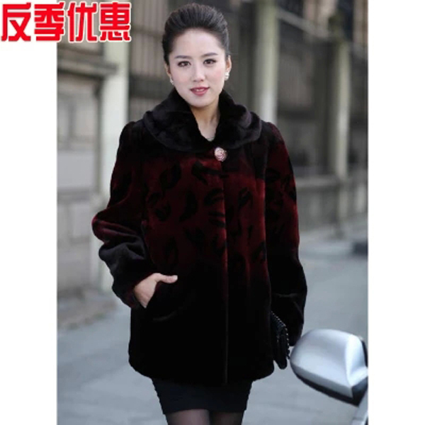 Popular Maroon Fur Coat-Buy Cheap Maroon Fur Coat lots from China