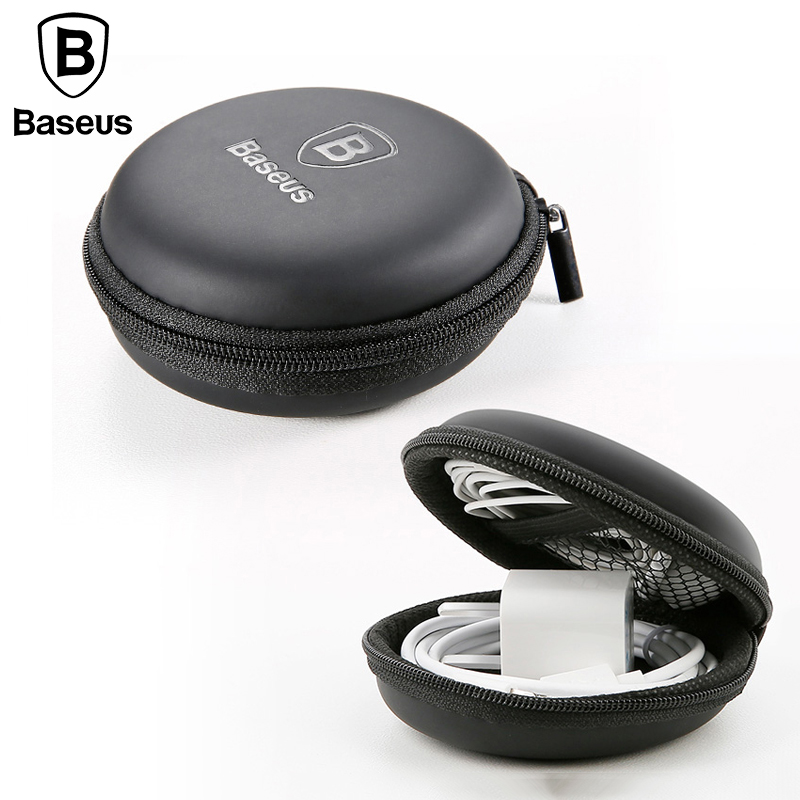 Baseus Earphone Headphone Storage Mini Bag Hard Box Portable For Earphone Ear Pads USB Cable Charger USB Drive Memory Card Case