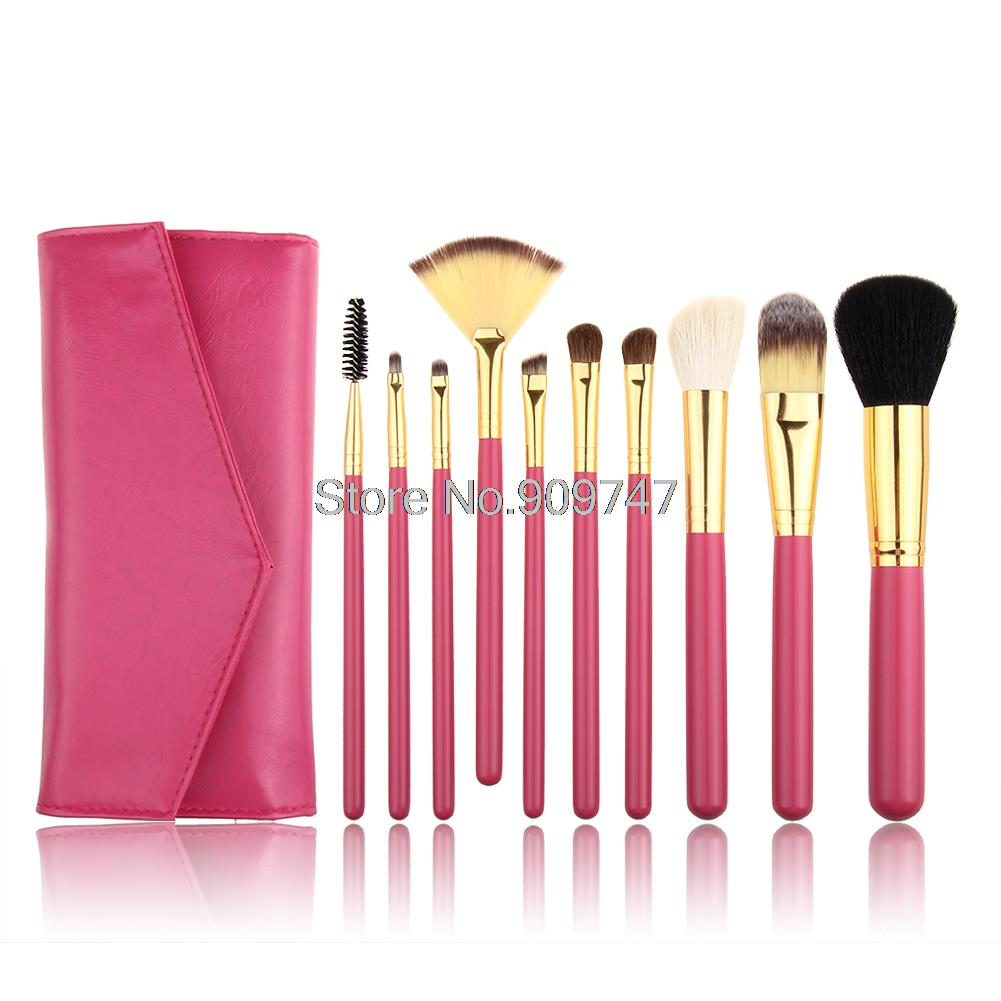 Superior Professional Soft Cosmetic Make up Brush Kit 10 Pcs/set makeup Goat Hair brushes with Bag