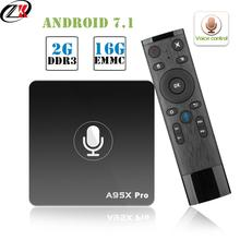 Get more info on the Google Smart TV Box  A95X Pro 2G 16G Smart TV Android 7.1 TV Box Voice Control Amlogic S905W WiFi box tv Media Player PK mi box