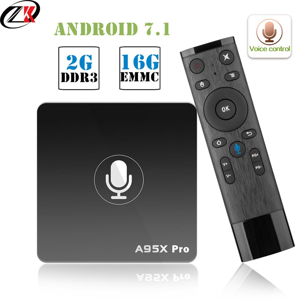Google Smart TV Box A95X Pro 2G 16G Smart TV Android 7.1 TV Box commande vocale Amlogic S905W WiFi box tv Media Player PK mi box-in Décodeurs TV from Electronique    1